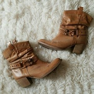 Steve Madden Leather Cowgirl Boots